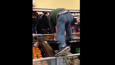 Black Friday mayhem captured in Walmart