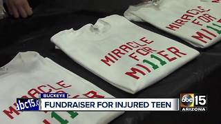 Family, friends, and classmates hold fundraiser for injured Buckeye teen - Video