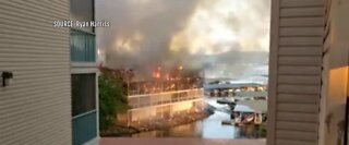 Large condo complex fire at Lake of the Ozarks