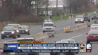 Maryland ranked 3rd worst state to drive in - Video