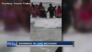 Swimming safety in Lake Michigan - Video