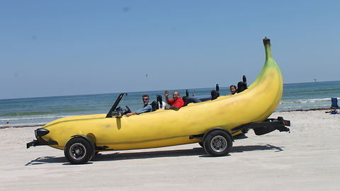 Gone Bananas: Fruity Vehicle Hits Speeds of 85 mph
