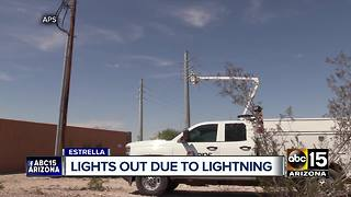 Lightning strike knocks out power to Estrella Foothills community - Video
