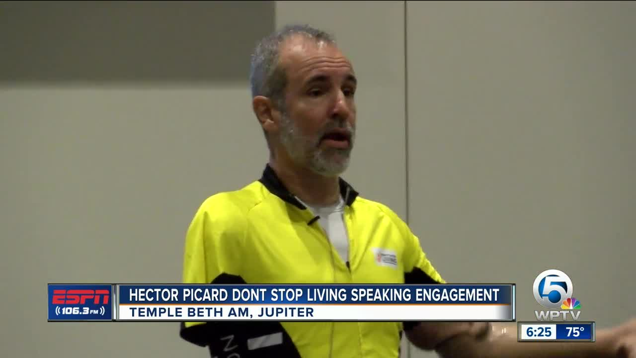 Hector Picard Dont Stop living speaking engagement