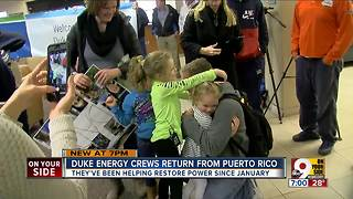 Duke Energy crews return from Puerto Rico - Video