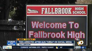 Teen arrested after gun threat against school - Video