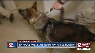 Broken Arrow Police host state workshop for k9 training - Video