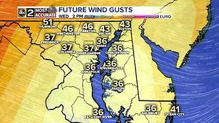 Showers Today, Windy Wednesday