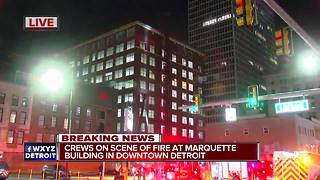 Crews battle fire at downtown Detroit building - Video