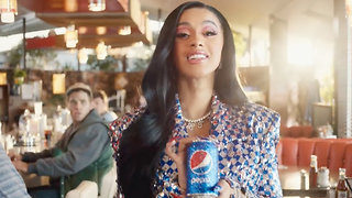 First Look At Cardi B's Pepsi Superbowl Commercial With Steve Carrel - Video