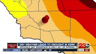 After a dry fall and winter, Kern County is seeing drought conditions