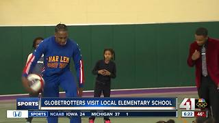 Globetrotters visit KC elementary school - Video