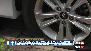 Burglars target cars in Estero neighborhood - Video