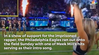 Eagles Players Show Solidarity with Convicted Rapper During Super Bowl Entrance