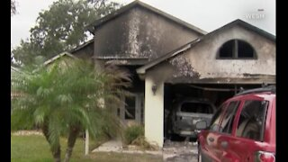 Amazon delivery driver saves man from house fire