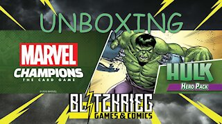 Hulk Marvel Champions Card Game Hero Pack Unboxing
