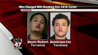 Two men charged with breaking into CATA bus station - Video