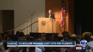 CU Boulder says it plans to lower tuition by eliminating course fees starting next fall - Video