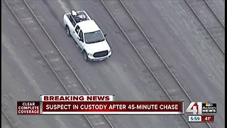 Man in custody after police chase across metro