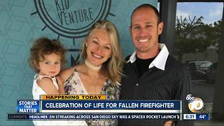 Celebration of Life for fallen San Diego firefighter - Video
