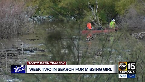 Week two in search for missing girl