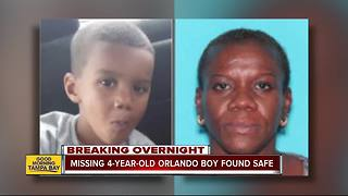 Missing 4-year-old Orlando boy found safe, woman arrested
