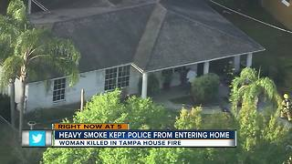 Woman killed in Tampa house fire, 3 TPD officers injured - Video