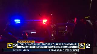 Child Shot in Baltimore County Triple Shooting - Video
