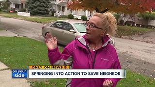 Cleveland neighbors save woman from danger, vow to keep their street safe - Video