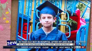 10 Year old hit & run - Video