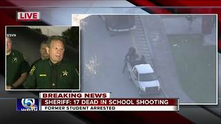 Broward County Sheriff updates school shooting that left 17 dead - Video
