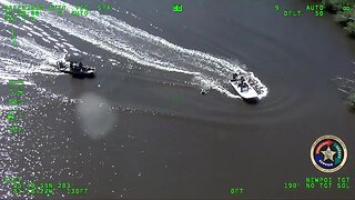 Aviation video of the missing kayaker being rescued from the Everglades