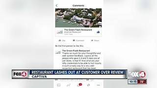 Restaurant lashes out at customer over review - Video