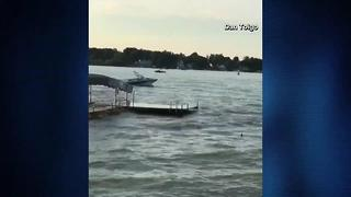 RAW VIDEO: Boat spins out-of-control on Indiana lake - Video