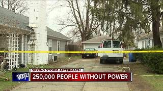 250,000 remain without power, DTE says - Video