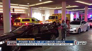 Power back on after outage at Circus Circus