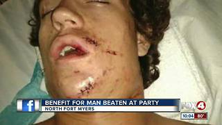 Benefit for man beating at a party - Video