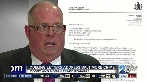 Dueling letters address Baltimore crime