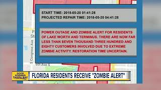 Florida city issues 'Zombie Alert' to residents during power outage - Video