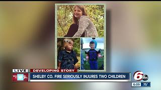 Two children seriously injured after house fire in Shelby County - Video