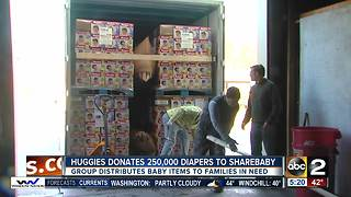 Huggies donates 250,000 diapers to ShareBaby - Video