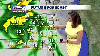 Partly cloudy and mild Tuesday night - Video