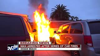 Series of fires erupt in Ocean Beach - Video