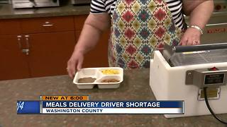 Washington County meal delivery program in need of volunteer drivers - Video