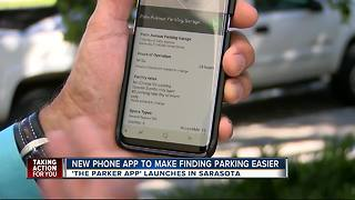 App shows open parking spaces in real-time in downtown Sarasota