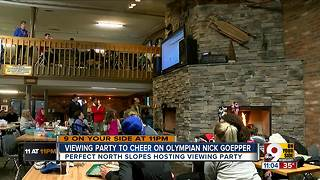 Perfect North Slopes hosts watch party for Indiana skier Nick Goepper - Video