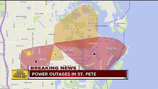 Thousands without power in Pinellas County - Video