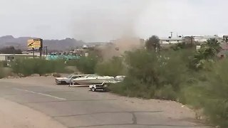 Dust Devil in Parker, Arizona, Caught on Camera - Video