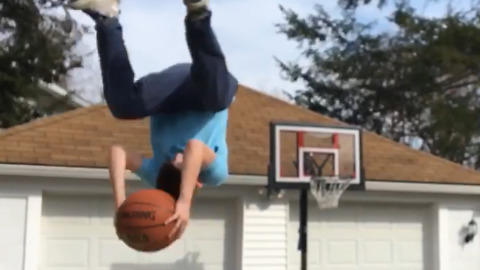 You Need To See This Incredible Slow Motion Basketball Trick Shot