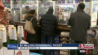 $1 million Powerball ticket sold in Iowa